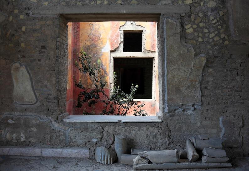 View of a roman villa interior
