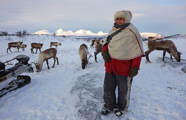 Aslak Tore Eira is a Sami reindeer herder in Troms County, Norway. Of the estimated 100,000 Sami spread out across northern Norway, Sweden, Finland, and Russia's Kola Peninsula, only about 10,000 still herd reindeer for a living. Photograph by Scott Wallace
