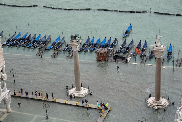 St. Mark's Square under water.
