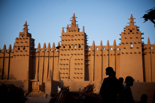 """<p>Nearly two thousand traditional earthen buildings remain standing in <a href=""""https://whc.unesco.org/en/list/116"""" target=""""_blank"""">Djenné</a>, one of the oldest towns in sub-Saharan Africa, inhabited since 250 B.C. In addition to its Islamic architecture, four archaeological sites—Djenné-Djeno, Hambarkétolo, Kaniana, and Tonomba—reveal clues about pre-Islamic urban structure and its subsequent evolution.</p> <p>Political insecurity, deterioration of historic construction materials, urbanization, and erosion earned it a place on the <a href=""""https://whc.unesco.org/en/news/1520/"""" target=""""_blank"""">World Heritage in Danger List</a> in 2016.</p>"""