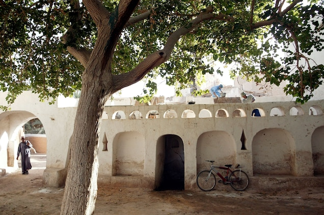 """<p>Known as """"the pearl of the desert"""", <a href=""""https://whc.unesco.org/en/list/362"""" target=""""_blank"""">Ghadamès</a> is one of the world's oldest remaining pre-Saharan settlements.</p> <p>In 2016, amidst ongoing conflict, all five of Libya's World Heritage sites were added to the Danger List. """"[Libya] is of great importance to humanity as a whole,"""" said Director General Irina Bokova in a <a href=""""http://www.unesco.org/new/en/media-services/single-view/news/the_director_general_calls_for_the_protection_of_the_old_tow/"""" target=""""_blank"""">press release</a>. """"Several major sites bear witness to the great technical and artistic achievements of the ancestors of the people [of Libya], and constitute a precious legacy.""""</p>"""
