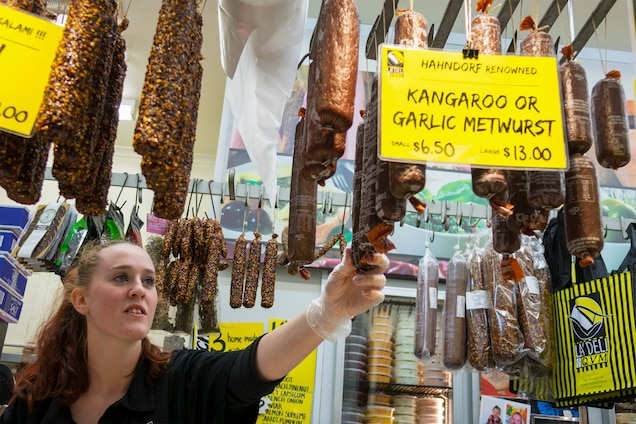 Kangaroo meat is easy to find in Australian butcher shops and restaurants. Some Australians, however, remain averse to eating a national icon. Photograph by Jeff Greenberg, UIG/Getty