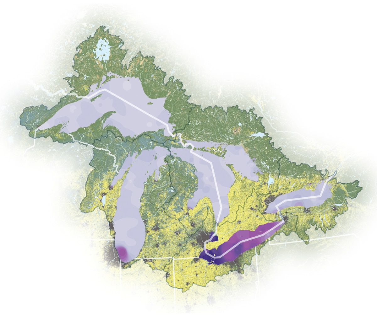 Map shows how fertilizer is choking the Great Lakes