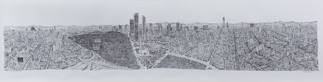 The completed version of Wiltshire's Mexico City drawing spanned 19 feet.