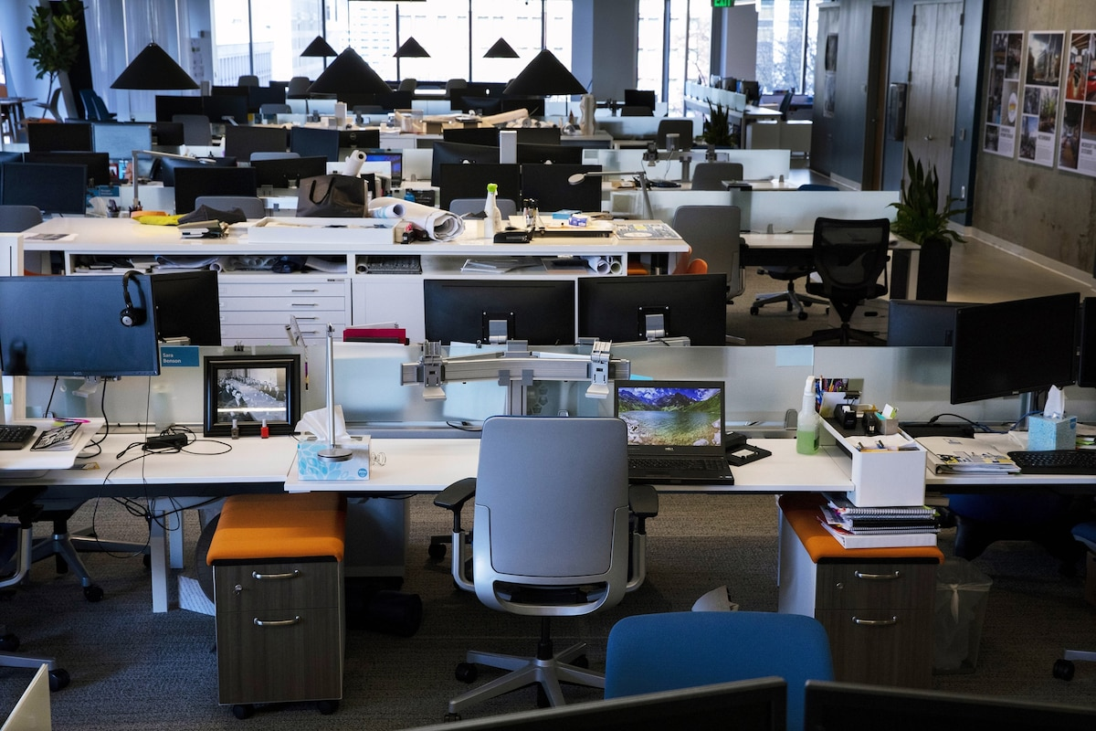Goodbye to open office spaces? How coronavirus is reshaping the workplace.