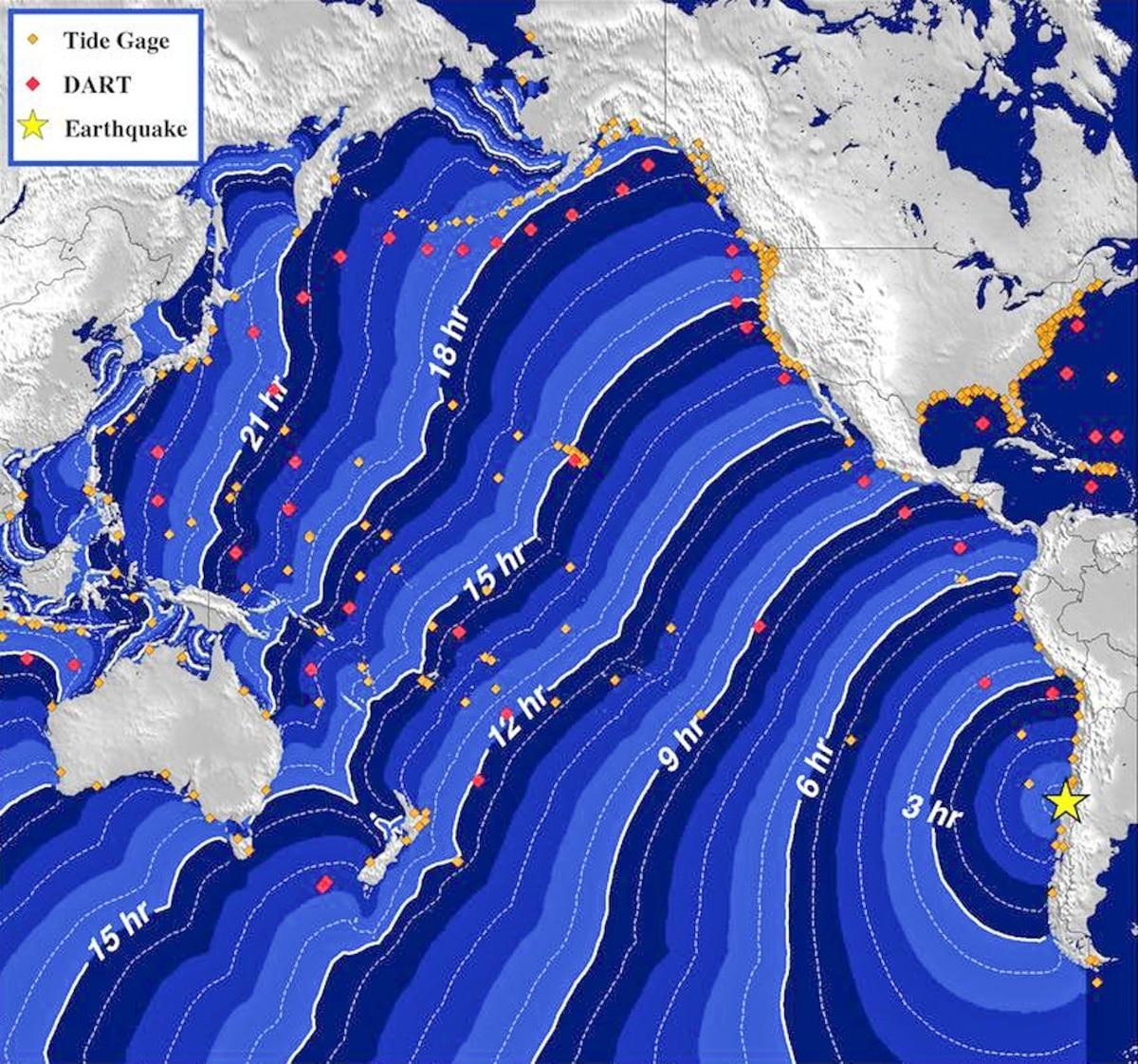 tsunami hits hawaii with three