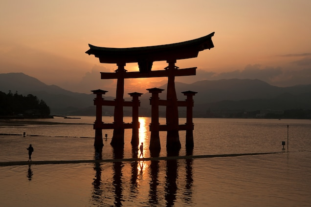 the Great Torii of Miyajima Hiroshima, Japan