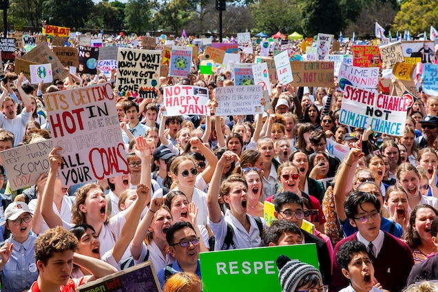 Kids' world climate strikes demand that warming stop, fast