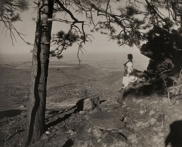 <p>A woman looks out over Tahosa Valley, Colorado. During the Great Migration, many African-American women went north and west for opportunity.</p>