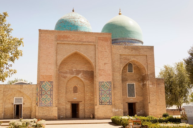 """<p>Located on the Silk Roads in southern Uzbekistan, this <a href=""""https://whc.unesco.org/en/list/885"""" target=""""_blank"""">2,000-year-old city</a> was the cultural and political center of the Temurids in the 15th and 16th centuries. The Ak-Sarai Palace, tomb of Temur, and Chor-su bazaar represent the rich architectural heritage of Central Asia and the Islamic world.</p> <p>In 2016, the site was listed """"<a href=""""https://whc.unesco.org/en/news/1522/"""" target=""""_blank"""">in danger</a>"""" due to the destruction of medieval buildings and construction of modern facilities """"which have affected irreversible changes to the appearance of historic Shakhrisyabz.""""</p>"""