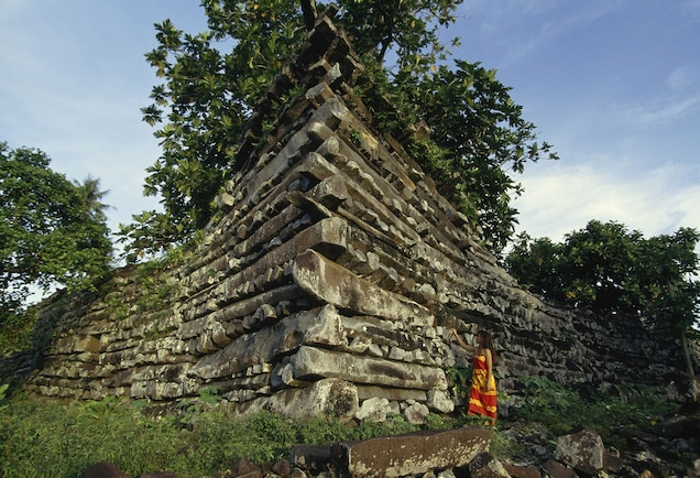 """<p>More than a hundred islets off the coast of Pohnpei form the ceremonial site of <a href=""""https://whc.unesco.org/en/list/1503"""" target=""""_blank"""">Nan Madol</a>. Ruins of stone palaces, temples, and tombs dating from 1200 to 1500 A.D. reveal the Pacific Island culture of the Saudeleur dynasty.</p> <p>In 2016, Nan Madol was listed <a href=""""https://whc.unesco.org/en/news/1787/"""" target=""""_blank"""">""""in danger""""</a> due to mangrove overgrowth, storm surge, and stonework collapse.</p>"""