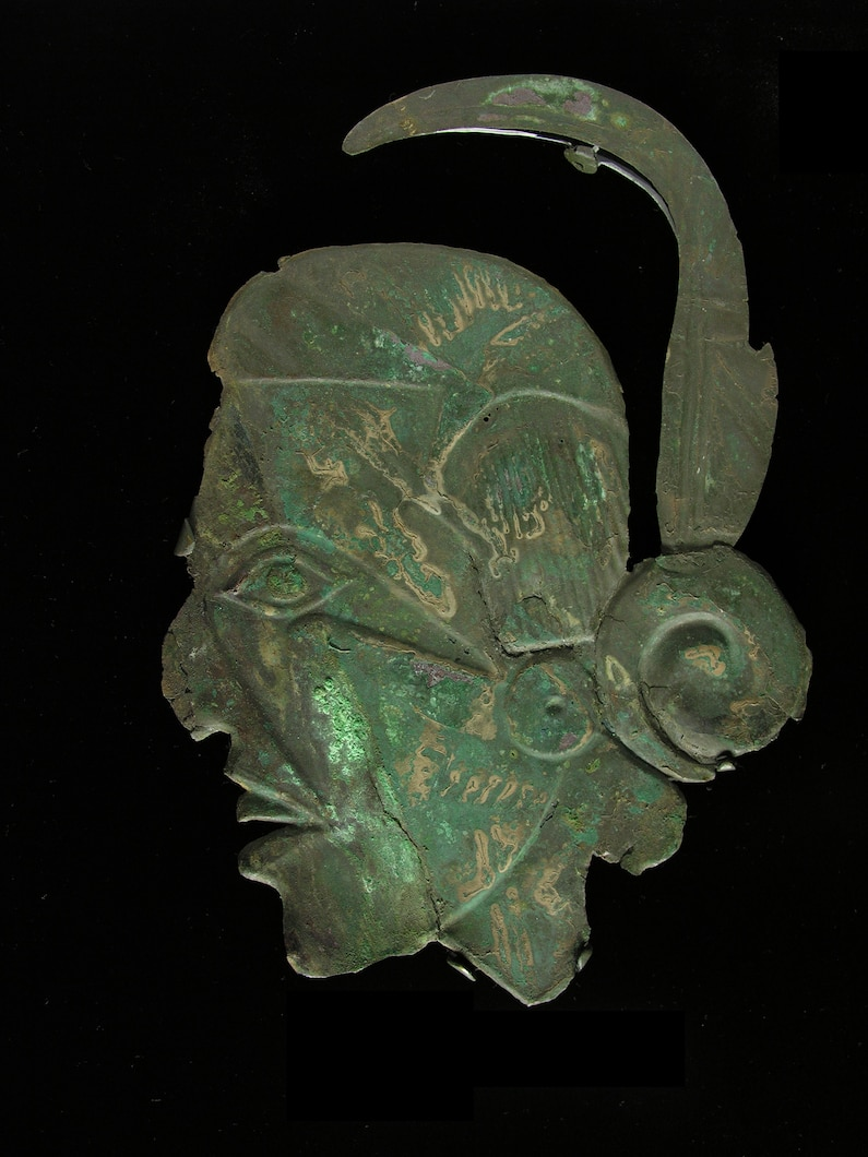 a studio photograph of a face artifact